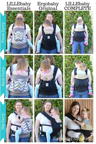 LILLEbaby Essentials compared to Ergo and COMPLETE All Seasons for Toddler