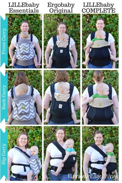 LILLEbaby Essentials compared to Ergo and COMPLETE All Seasons for Infant