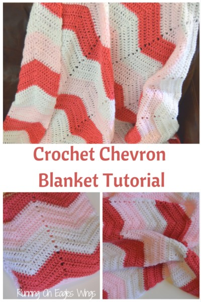 Crochet Chevron Blanket Tutorial Free