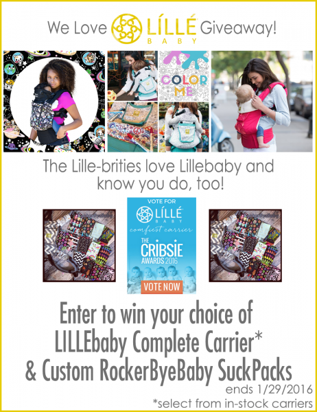 We Love LILLEbaby Giveaway by the LilleBrities #babywearing