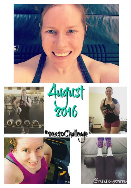 August 2016 #20x20challenge JillFit Metabolic effect workouts